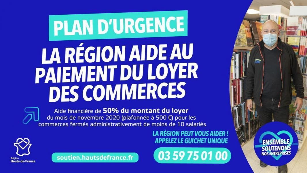 Aides loyers commerces novembre