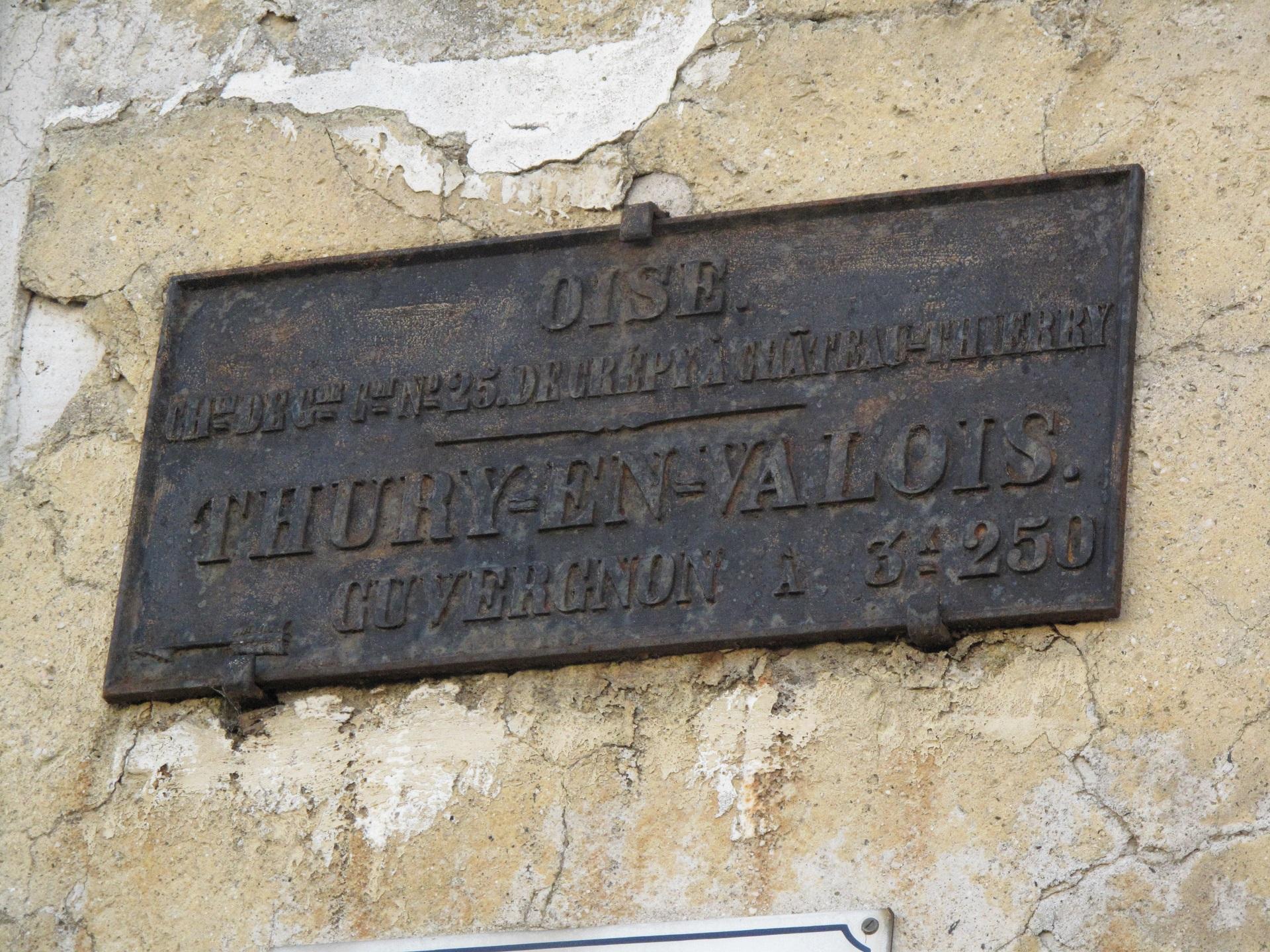 Ancienne plaque - Rue du château...
