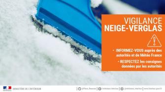 Vigilance orange neige et verglas large